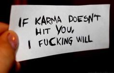 Karma gets me but I still have to hit myself. karma – new years quotes Karma, The Words, Mood Quotes, Life Quotes, Edgy Quotes, Mathilda Lando, It Hurts, Thoughts, Writing