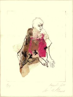 Original hand pulled Chine collé Dry Point Etching by uterathmann, €110.00