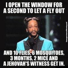 I Open A Window To Let Fly Out Funny Jehovahs Witness Stand Up Comedy