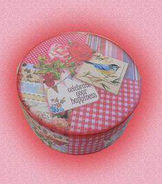 caja circular vintage