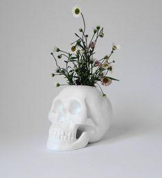 Skull, Plant Holder, Skull Deco, Skulls, Human Skull, Skull Figurine, White Skull, Office Decor, Gift for Her, Hodi Home Decor, Human Skull,...