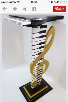 I love this -- piano note table/bar stool