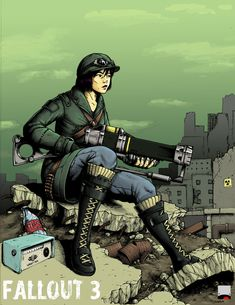 Vault Gal - coloured version by Zerahoc on DeviantArt Fallout Rpg, Fallout Fan Art, Fallout Cosplay, Fallout Game, Fallout New Vegas, Character Art, Character Design, Nuclear Winter, Post Apocalyptic Art