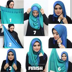 I love this hijab style, it looks so classy and would be great to wear for office or uni, I also love the color which is classy itself, I would for sure rock this style with a black… Square Hijab Tutorial, Simple Hijab Tutorial, Hijab Simple, Pashmina Hijab Tutorial, Hijab Style Tutorial, Scarf Tutorial, Hijab Musulman, Muslim Hijab, Hijab Chic