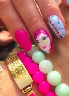 by Paulina Walaszczyk Indigo Educator :) Follow us on Pinterest. Find more inspiration at www.indigo-nails.com #nailart #nails #indigo #summer #pink #barbie