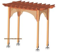 Delicieux How To Make A Garden Arbors, Free Garden Arbor Plans With Step By Step  Instructions