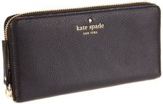 Kate Spade Lacey PWRU1801 Wallet,Black,one size Kate Spade New York. Save 4 Off!. $190.71. Soft pebbled cowhide. 12 card slots; two bill pockets; one zippered pouch