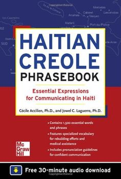 Haitian Creole Phrasebook: Essential Expressions for Communicating in Haiti by Jowel C. Laguerre,http://www.amazon.com/dp/0071749209/ref=cm_sw_r_pi_dp_Bai2sb0R3ZD5QT5G