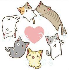 """Résultat de recherche d'images pour """"kawaii cats"""""""
