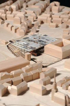 Winners announced for the New Bauhaus Museum in Weimar,Honorable Mention: hks Hestermann Rommel Architekten, Erfurt Landscape Architecture Model, Architecture Panel, Architecture Visualization, Architecture Graphics, Architecture Portfolio, Concept Architecture, Architecture Drawings, Architecture Design, Bauhaus