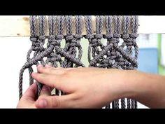 DIY Macrame Tutorial: Beginner Wall Hanging Diamond with Crafty Ginger - YouTube