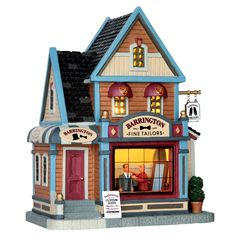 Lemax Barrington Fine Tailors SKU# 65125  Released in 2016 as a Lighted Building for the Caddington Collection.