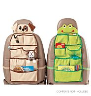 """Time for Car Trip Organizer      Reg. $17.99  Pockets for books, pens and markers, CDs, and much more, this organizer will help keep any young traveler busy on long car trips. Just attach to the back of your car seat and hit the road. 28 1/2"""" L x 14"""" W. Polyester. Imported.     Contents not included. Please visit my Avon Web-Site, which is on my profile!"""