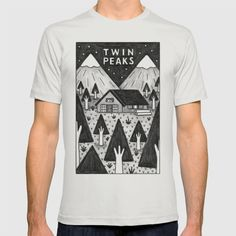 Twin Peaks T-shirt by Ana Albero | Society6