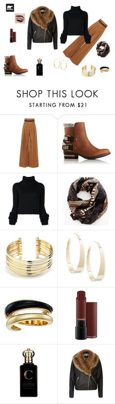 """""""Kick Up the Leaves (Stylishly) With SOREL: CONTEST ENTRY"""" by sekarionkj ❤ liked on Polyvore featuring Martin Grant, SOREL, IO Ivana Omazić, Sophie Darling, Belk Silverworks, Lana, Michael Kors, Clive Christian, River Island and sorelstyle"""
