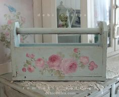 Rustic Galvanized Metal Bird Post MailBox - Shabby Chic Style Decor - Home Style Corner Romantic Shabby Chic, Shabby Chic Style, Shabby Chic Decor, Shaby Chic, Decoupage Vintage, Shabby Vintage, Vintage Roses, Vintage Furniture, Painted Furniture
