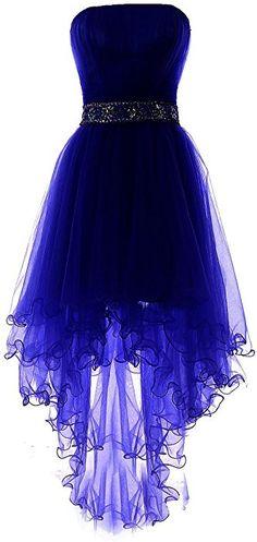Amazon.com: YiYaDawn Women's High-low Homecoming Dress Short Evening Gown Size 10 US Royal Blue: Clothing