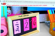 #cute #desk #calendar LAURDIY
