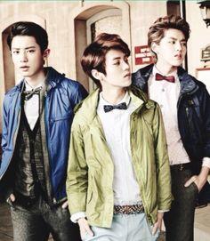 O-O  Chanyeol, Luhan, and Kris