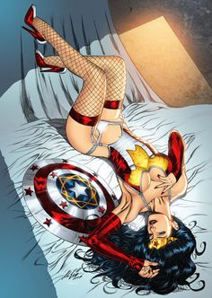 Comics: pinup Wonder Woman.
