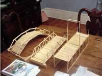 Popsicle stick bridge - Jesus is our way back to God