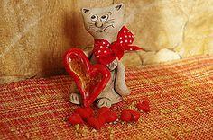 Socha - mačička so srdcom - 6312061_