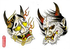 Hannya and Oni by Ryan Ussher