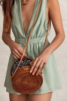 Shop for Urban Outfitters Circle Straw Crossbody Bag at ShopStyle.com
