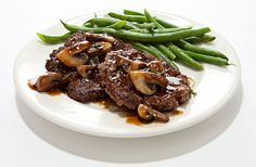 Easy Protein Dinner: Chopped Steak With Mushroom Sauce  An easy, delicious, protein-packed meal.  By Chef Robert Irvine