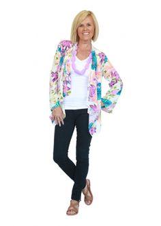 Boho kimono, boho cape, bohemian kimono Kimono Jacket, Kimono Top, Bohemian Kimono, Hibiscus, Cape, Spring, Jackets, Clothes, Women
