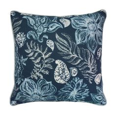 Surekha Midnight Cushion - 50cm  This limited edition cushion has been created using William Yeoward's 'Surekha' Midnight fabric, a design is which abundant with flowers and foliage. Combined with No Chintz French Grey Fabrics it is the perfect piece for your home.  #cushion #cushioncovers #designerfabrics #williamyeoward #homedecor #softfurnishings #nochintz