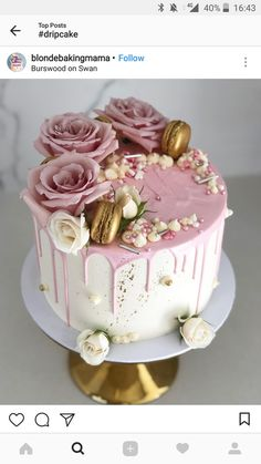 Cake Birthday Party Decorating 68 New Ideas - kuchen Beautiful Birthday Cakes, Beautiful Cakes, Amazing Cakes, Beautiful Beautiful, Beautiful Pictures, 21st Birthday Cakes, Birthday Cakes For Women, Fondant Birthday Cakes, Birthday Cake Designs