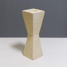 20-431-modernist-geometric-studio-pottery-candle-holder-3 Hourglass Shape, Sgraffito, Ceramic Decor, Shape Design, Earthenware, Candle Holders, Pottery, Candles, York