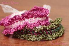beads and fringe #crochet bracelet pattern