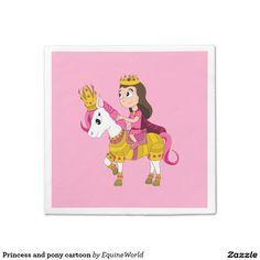 Princess and pony cartoon napkin