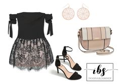 Night Out Outfit, Pink and Black Outfit, Black Lace Skirt