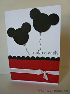 A Christy Production: Mickey Mouse Punch Art, mickey mouse, disney, punch art, stampin up, achristyproduction, circle punch, oval punch, mickey mouse card, disney card