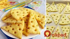 cheese crackers from 4 raw materials 26 best recipes for New Year 's Eve, sticks and rolls NejRecept. No Salt Recipes, Cookie Recipes, Menu Brunch, Good Food, Yummy Food, Snacks Für Party, Biscuit Cookies, Finger Foods, Biscuits