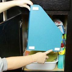 New Kitchen Diy Cabinets Magazine Holders 47 Ideas Kitchen Sink Organization, Sink Organizer, Diy Kitchen Cabinets, Filing Cabinet Organization, Organization Ideas, File Folder Organization, File Folders, Cupboard Storage, Storage Ideas