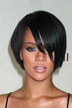 Rihana short bob hairstyle
