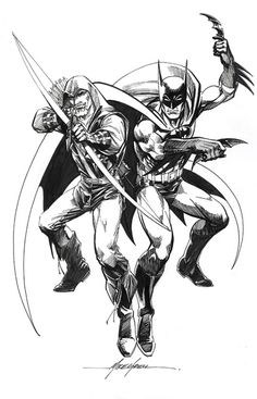 Batman and Green Arrow by Mike Grell