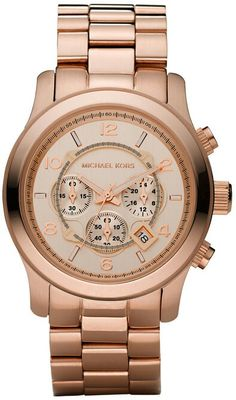 Rose Micheal Kors watch. Wish I could pull this off!