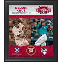 Nelson Cruz Seattle Mariners Fanatics Authentic Framed 15'' x 17'' 2015 MLB All-Star Game Collage with a Piece of Game-Used All-Star Baseball - $99.99