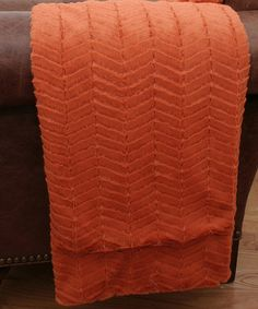 Take a look at this Burnt Orange Aiden Faux Fur Throw by THRO on #zulily today! $28 !!