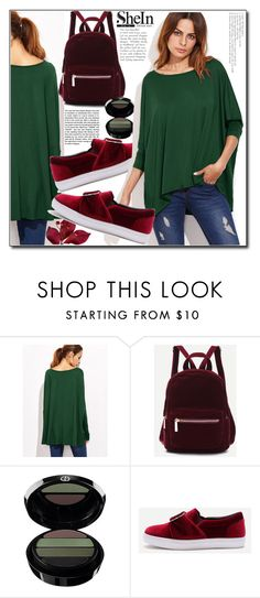 """""""Shein- Green T-shirt"""" by jelena-880 ❤ liked on Polyvore featuring Andrea and Giorgio Armani"""