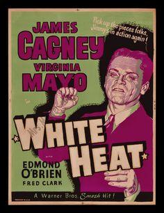 WHITE HEAT JAMES CAGNEY! #1 RAREST & BEST FILM NOIR MOVIE POSTER IN EXISTENCE!!