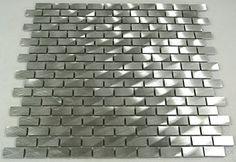 Piastrelle da bagno alluminio argentato mosaico piastrelle a mosaico in acciaio inox 4mm nuovo # 013