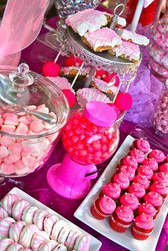 1st Birthday Candy Station & Princess Dessert Buffet