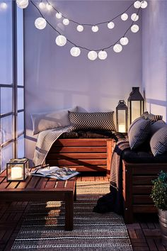 Looking to upgrade your backyard? Check out these easy ways to do so without breaking the bank like adding outdoor furniture, colorful pillows + string lights! #partner