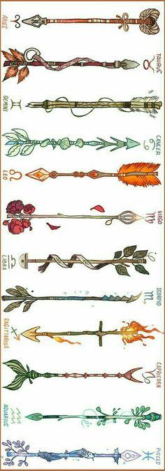 Tatuajes del signo del zodiaco (flechas)